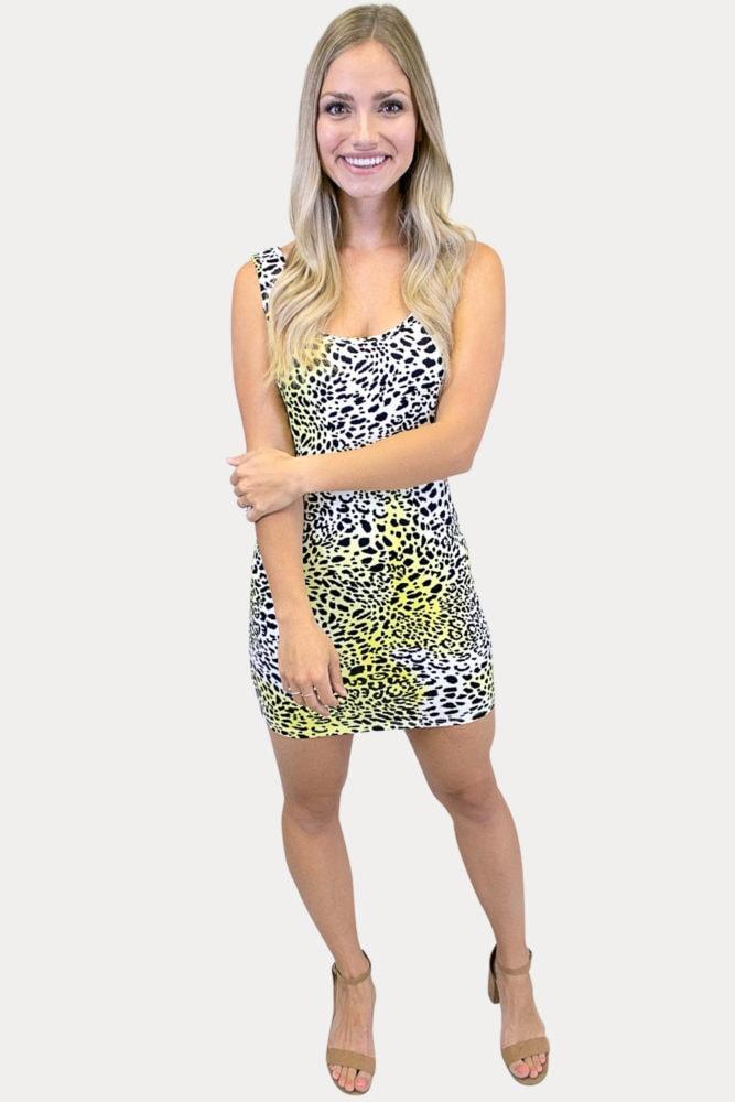 leopard tie dye dress