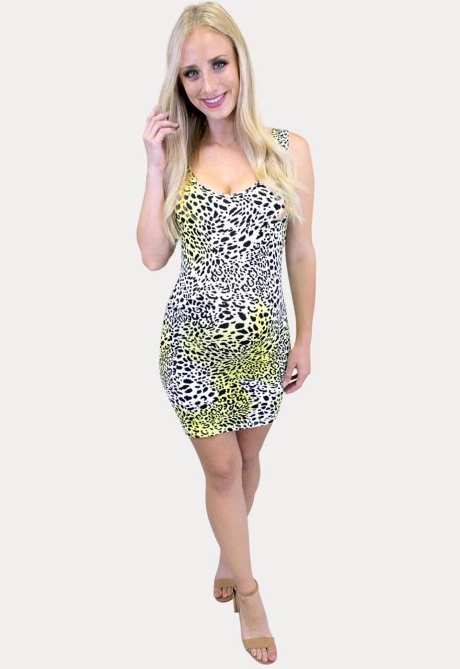 leopard tie dye maternity dress