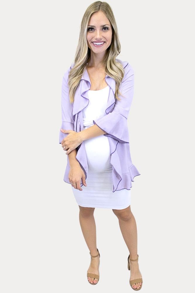 maternity ruffle kimono