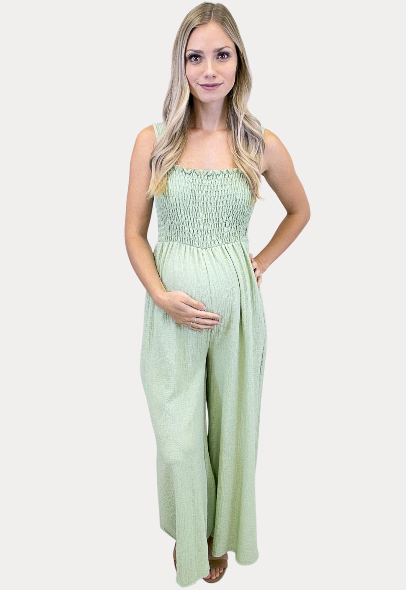 Sleeveless Green Maternity Jumper Sexy Mama Maternity