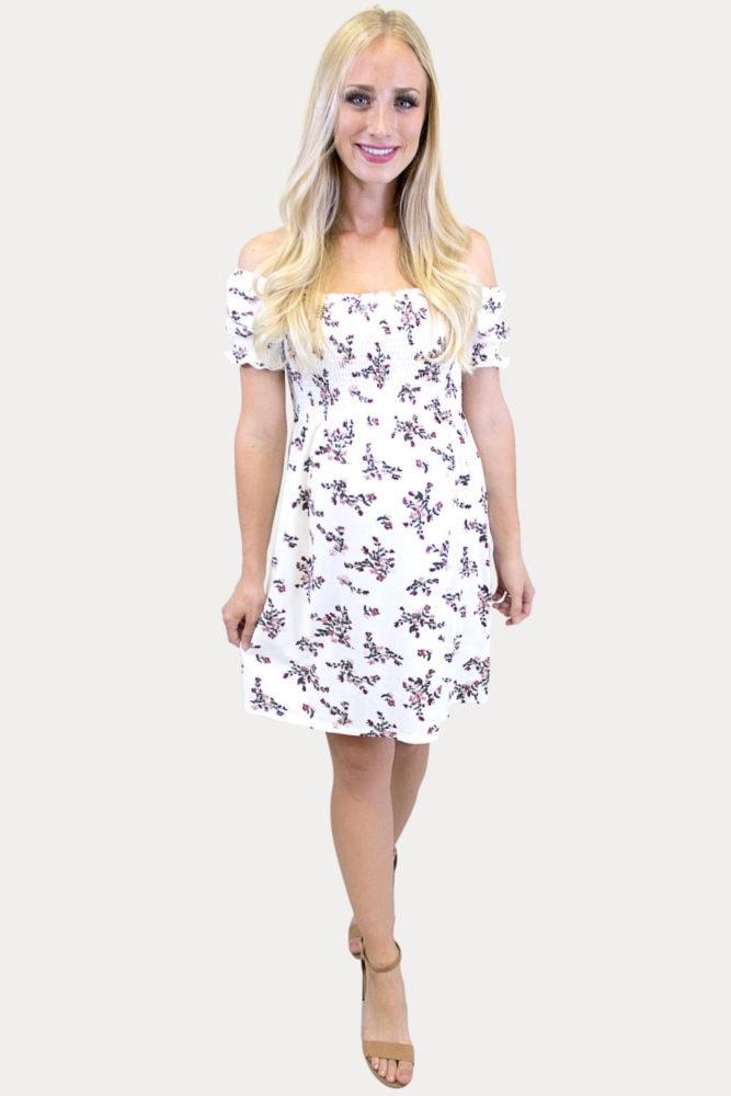 floral smock top pregnancy dress
