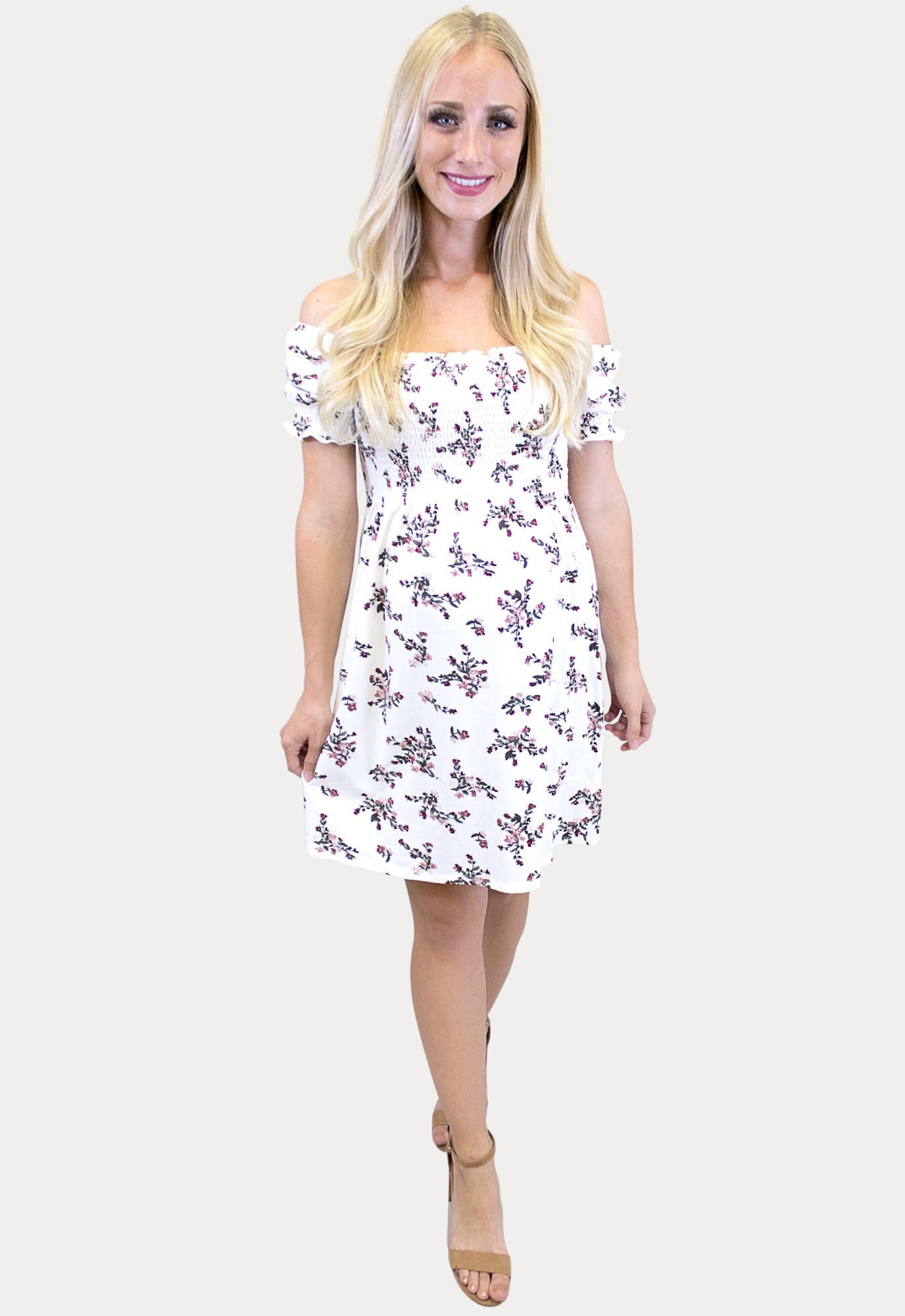 Floral Smock Top Pregnancy Dress Sexy Mama Maternity
