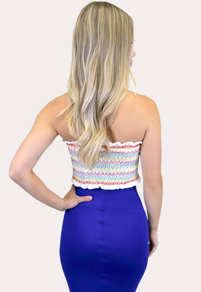 white striped maternity top