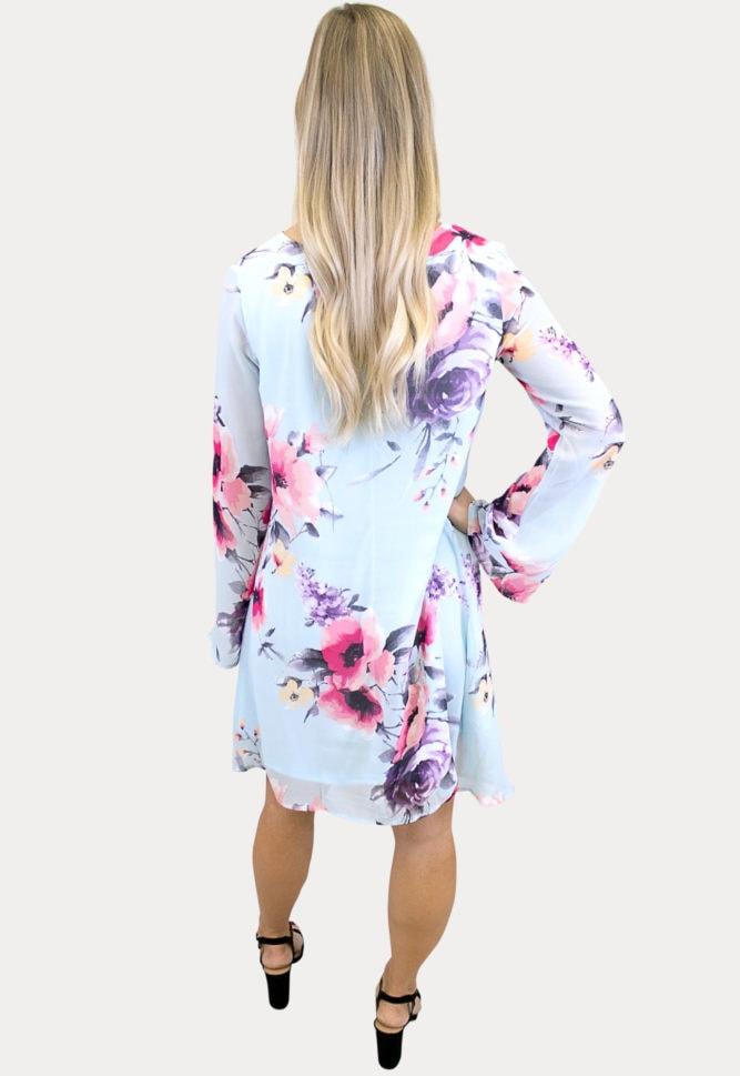 v-neck floral maternity dress