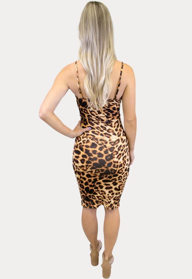 thin strap leopard maternity dress