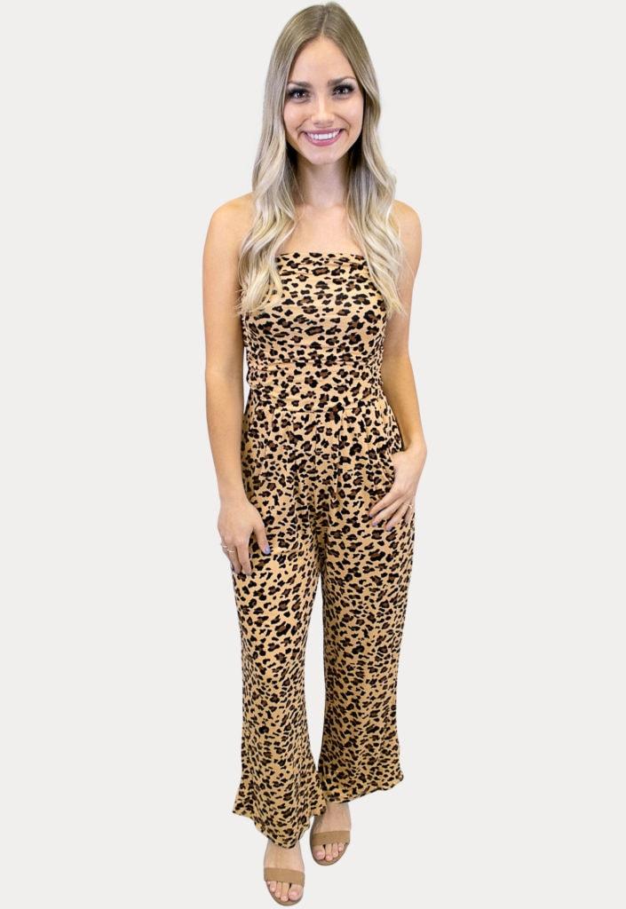 strapless leopard jumper