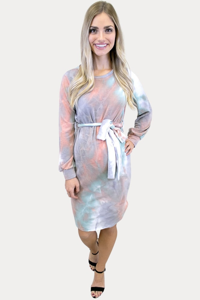 tie dye maternity dress