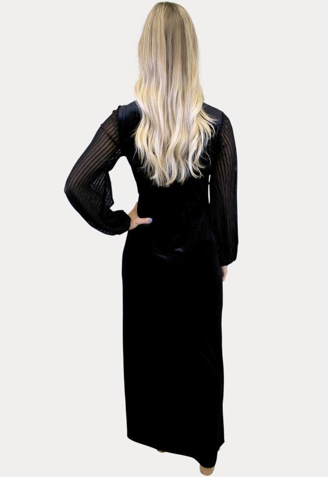 velvet maternity maxi dress