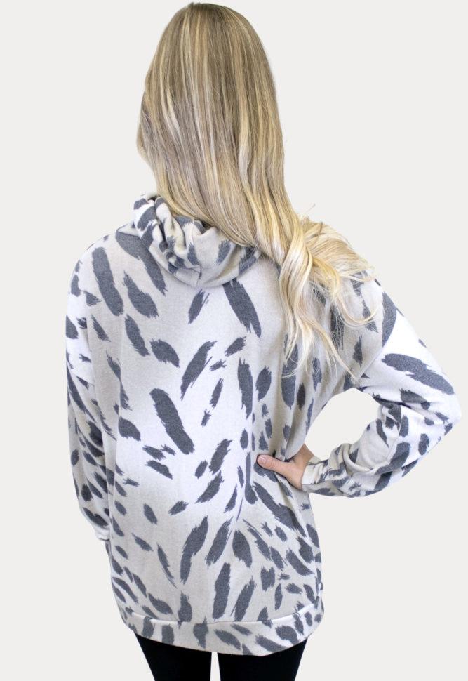 animal print maternity tunic