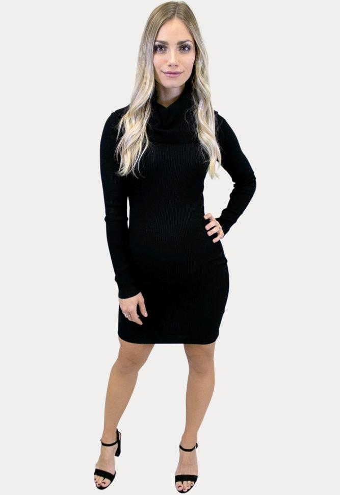 black maternity sweater dress