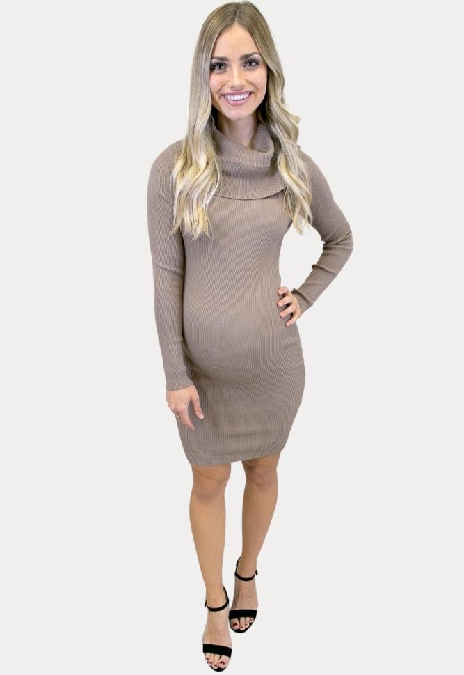ribbed maternity sweater dress