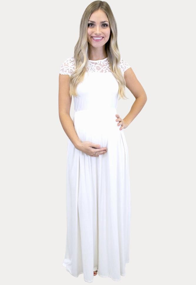 high neck maternity maxi
