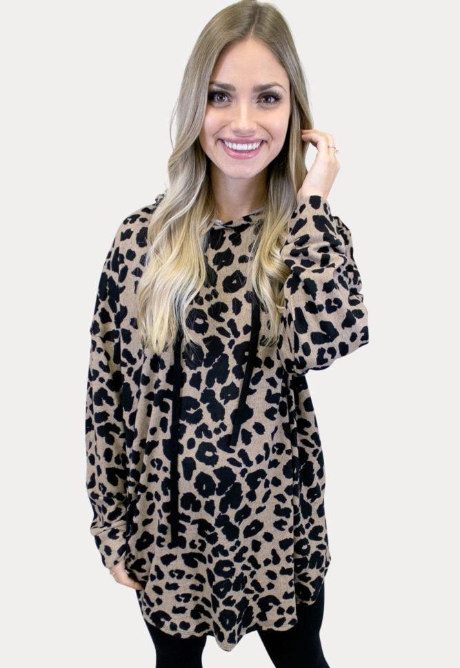 leopard maternity sweatshirt