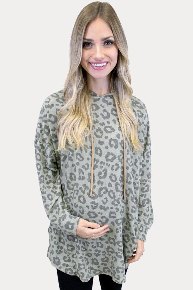 leopard pregnancy sweatshirt