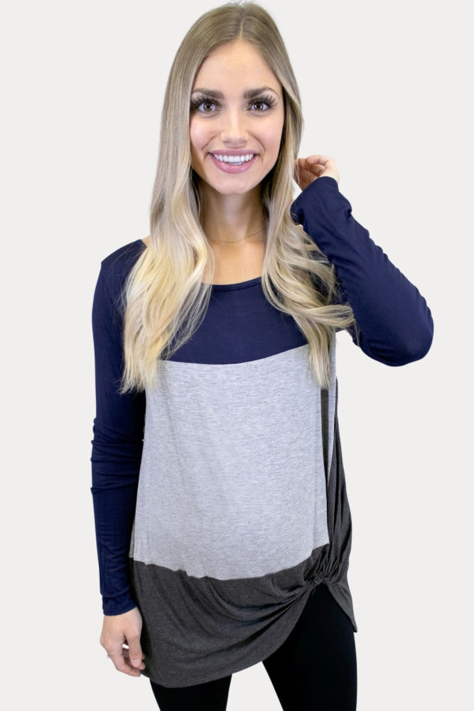color block maternity tunic