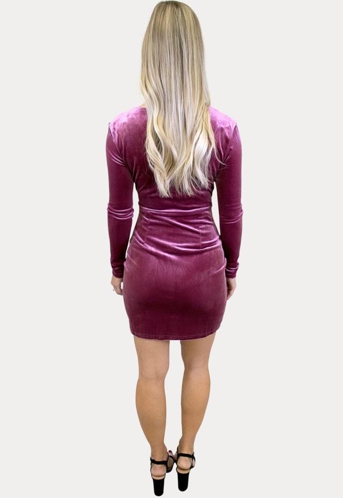 long sleeve velvet maternity dress
