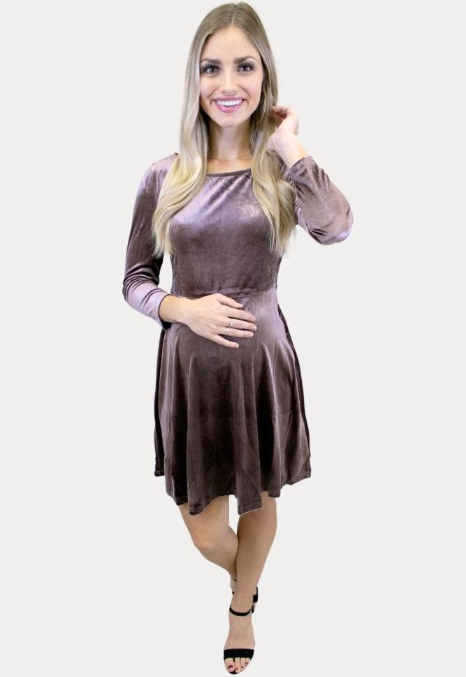 velvet pregnancy dress