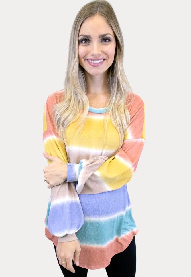 striped maternity tunic