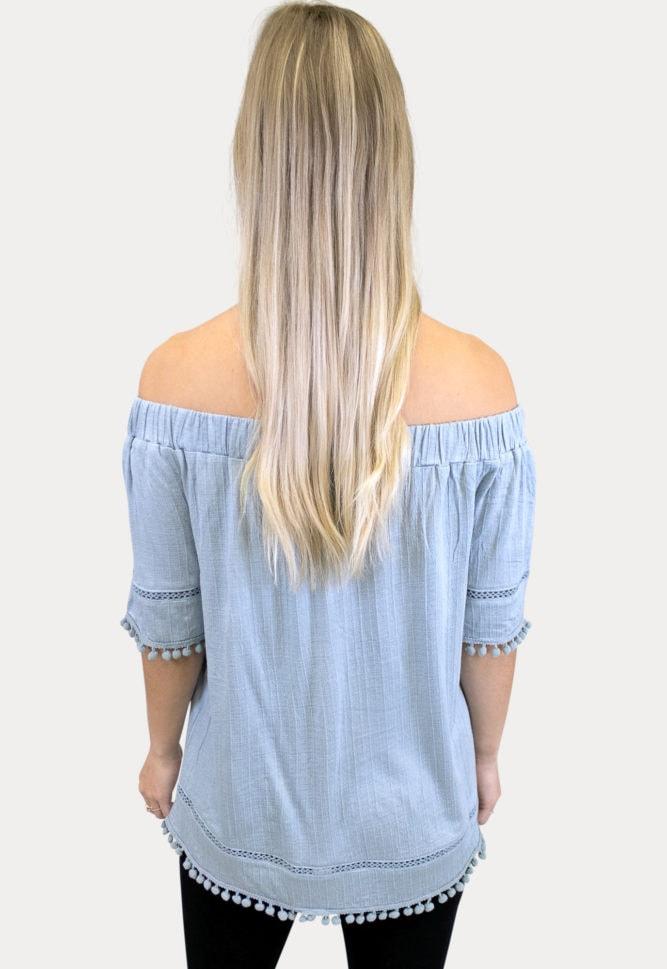 off the shoulder maternity shirt