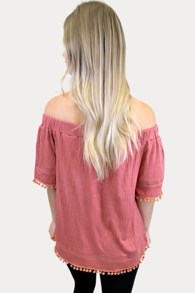 off the shoulder maternity top