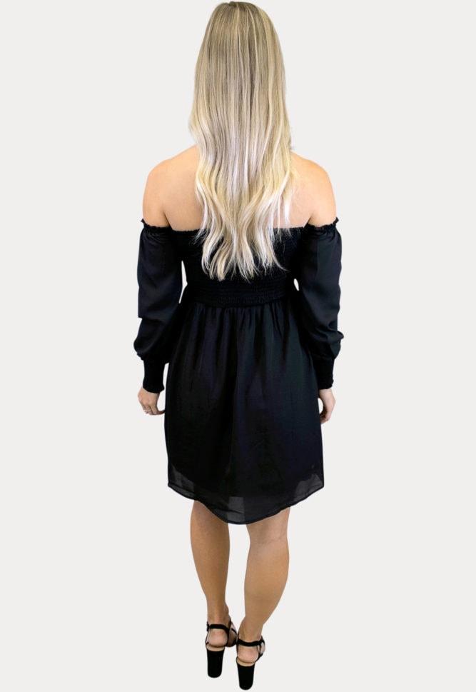 black smock top maternity dress