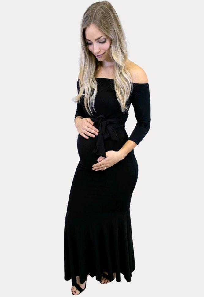 tie front maternity maxi dress
