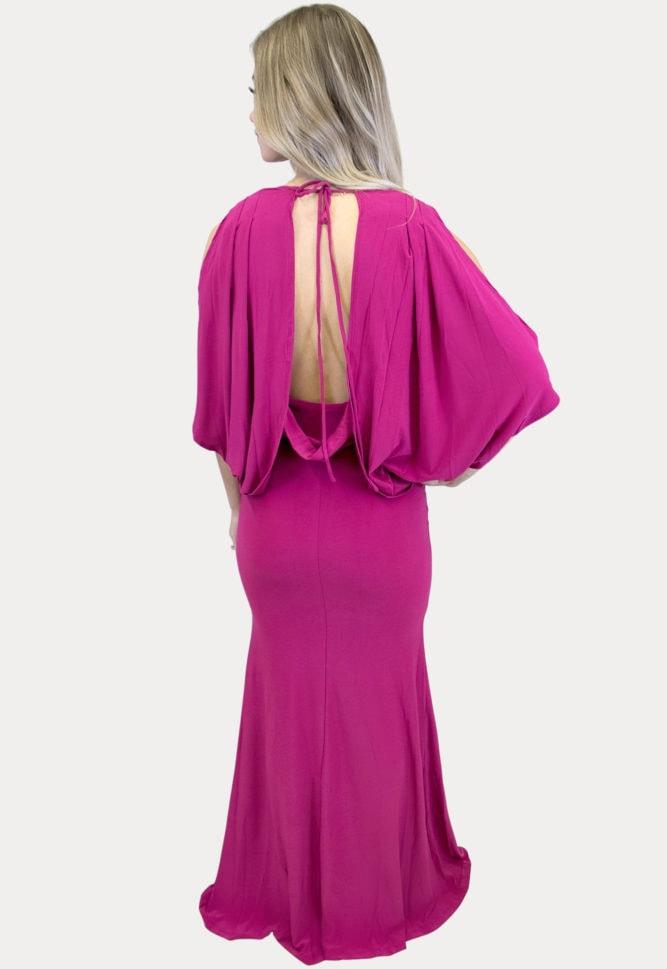 open back maternity maxi dress