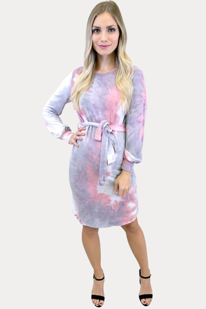 tie dye pregnancy dress