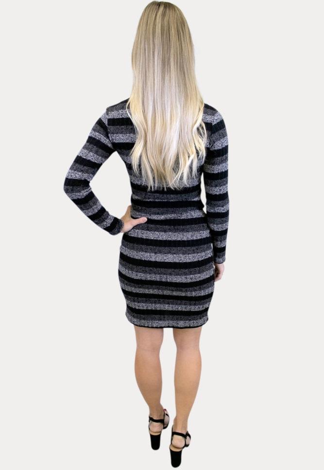 striped maternity sweater dress