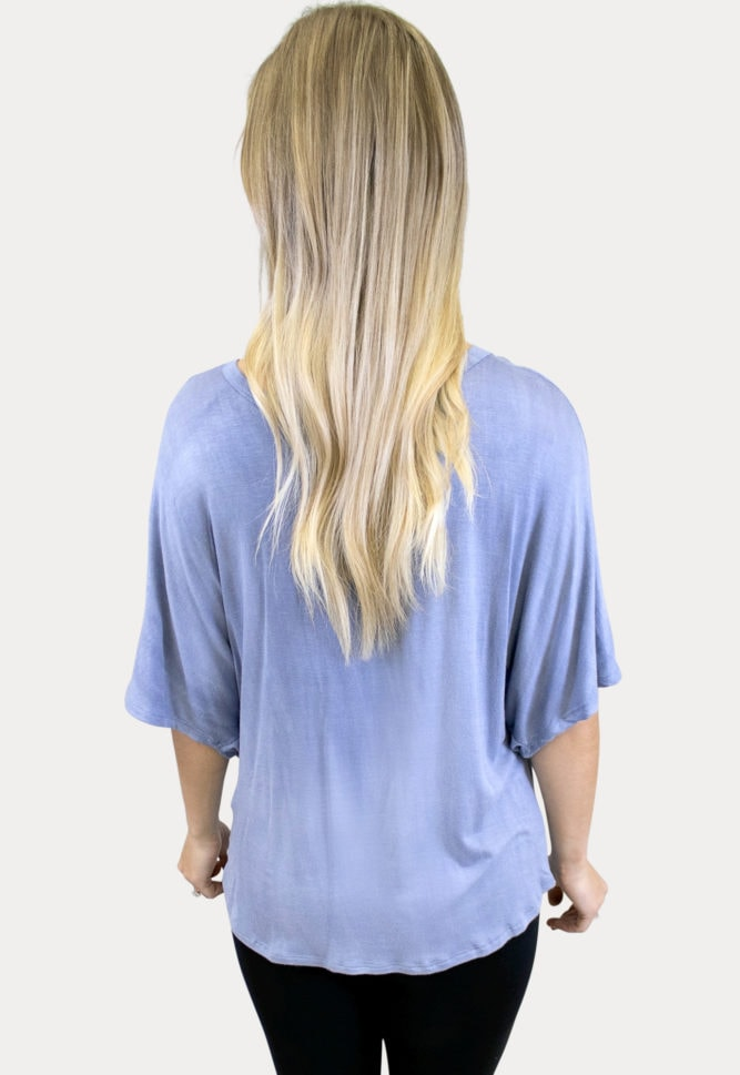 knot front maternity top