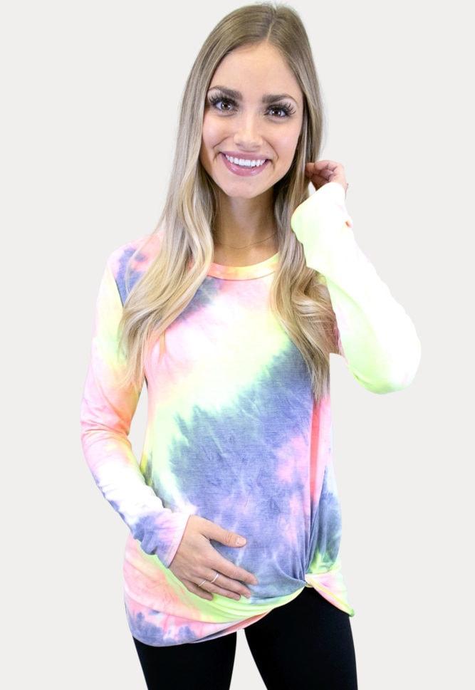 tie dye maternity top