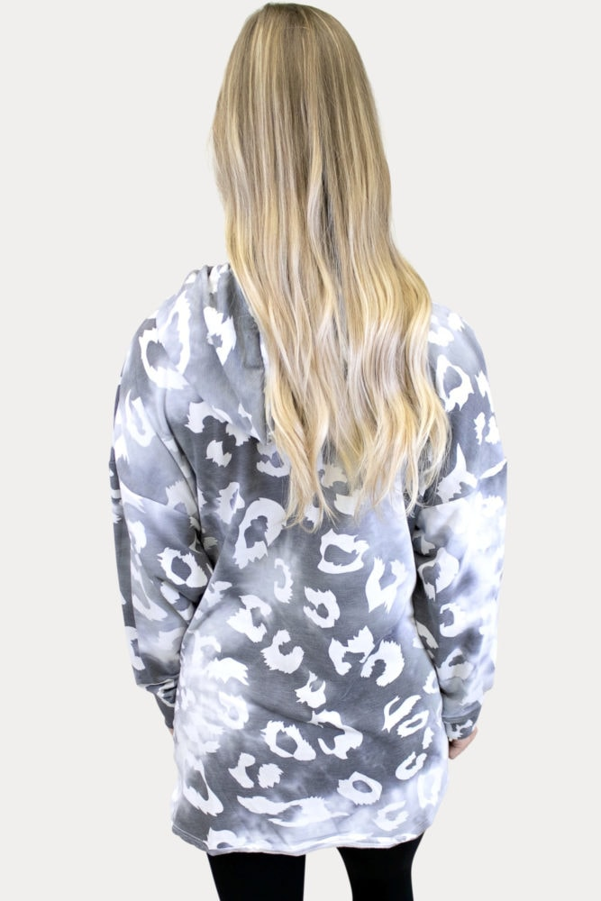 white leopard maternity sweatshirt