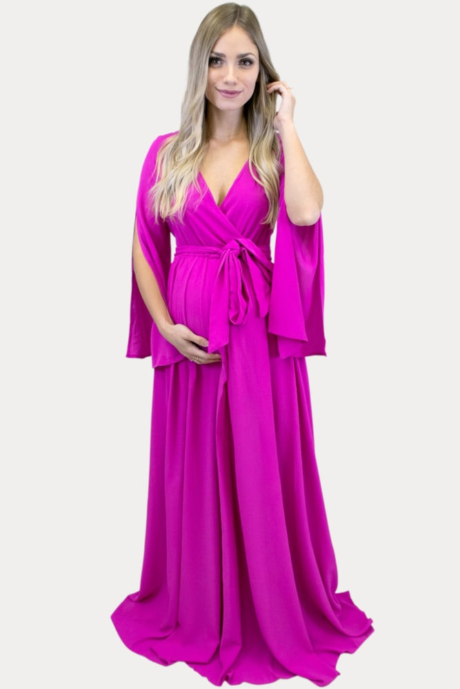 tie front maternity maxi
