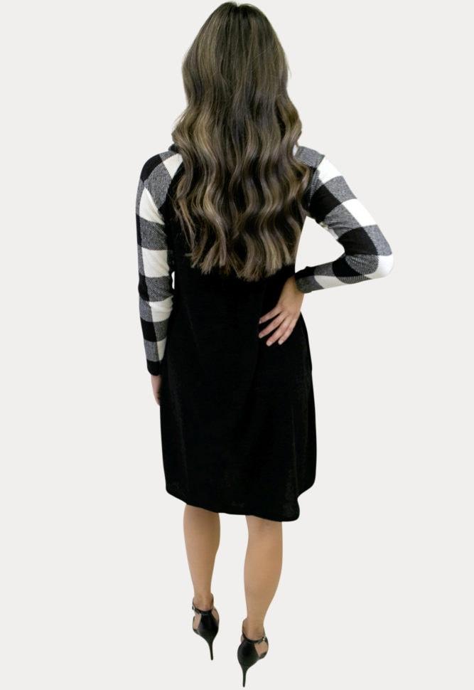 buffalo plaid pregnancy dress