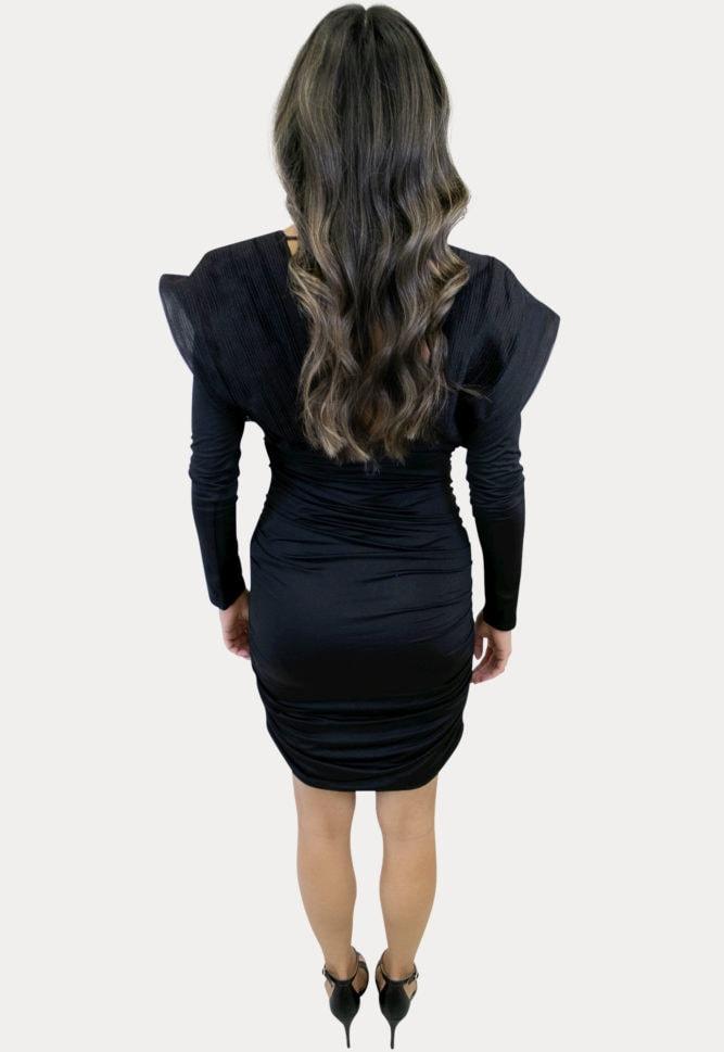 deep v-neck maternity dress