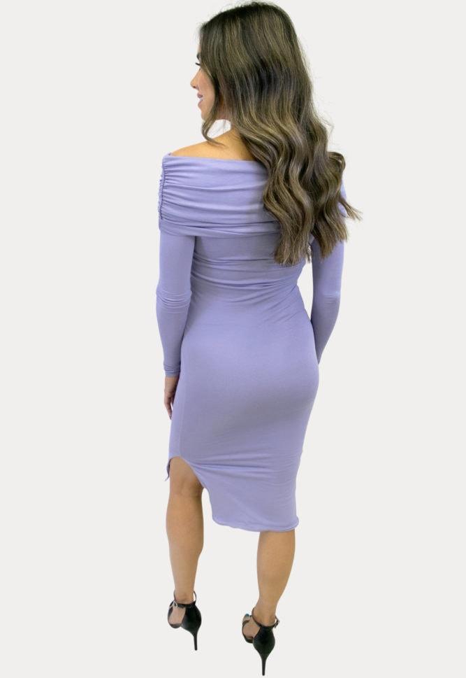 maternity dress with leg slit