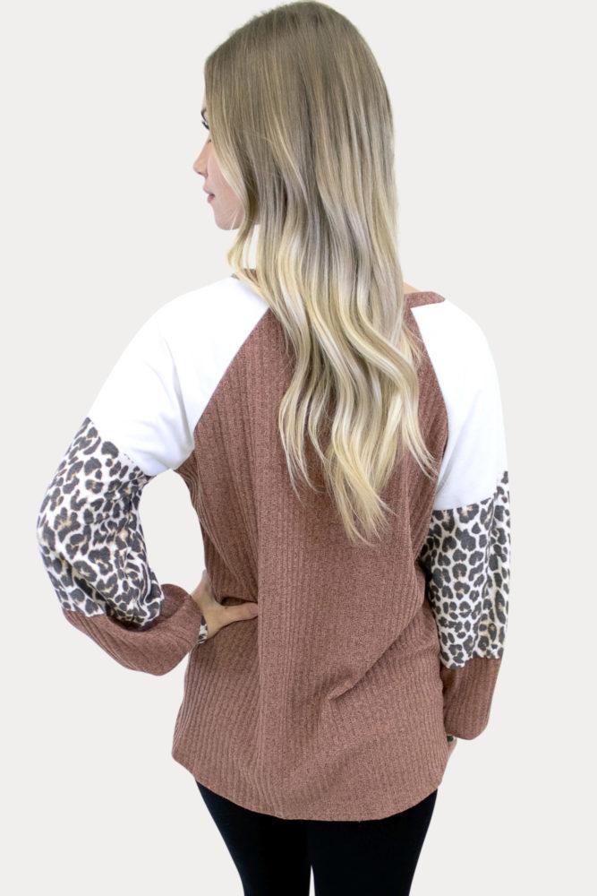 leopard pregnancy long sleeve top