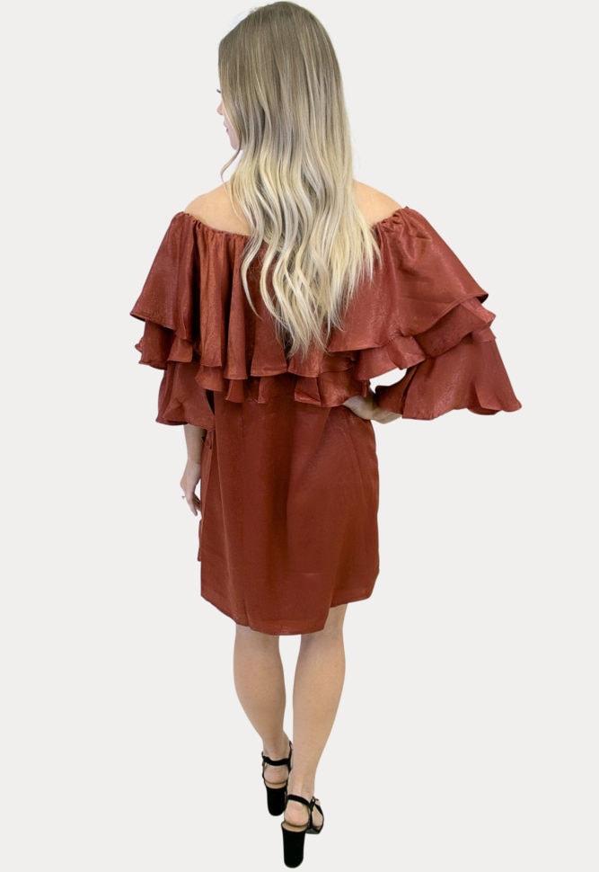 multi ruffle maternity dress