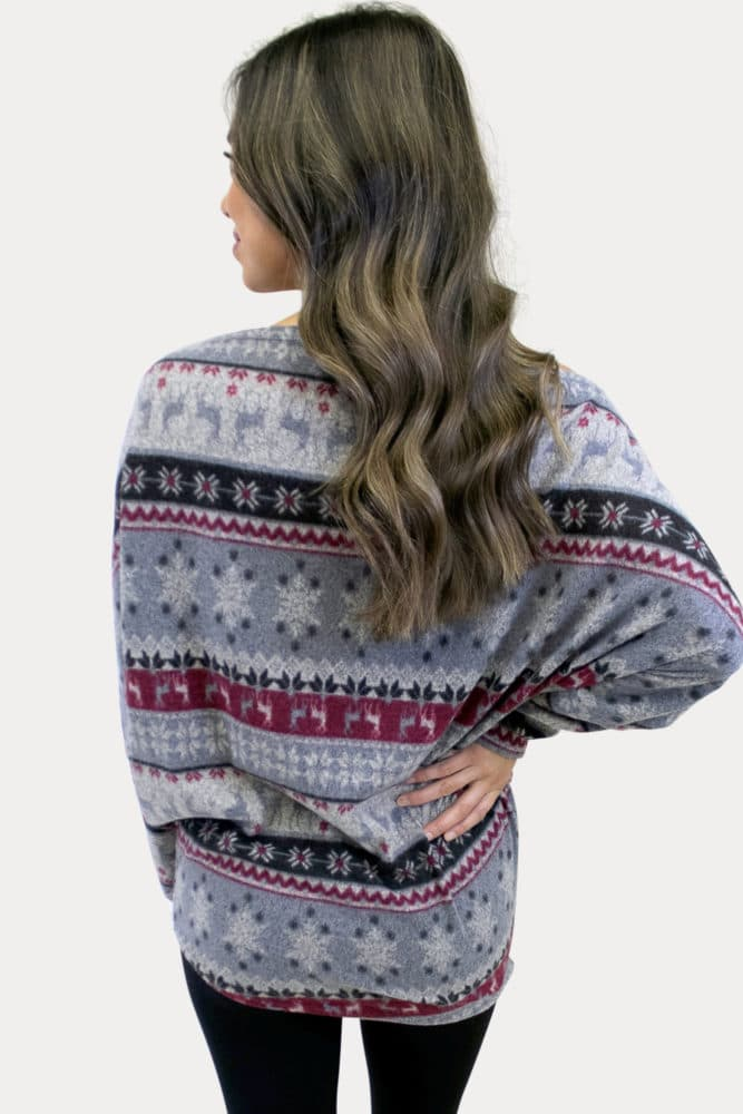 off the shoulder festive maternity top