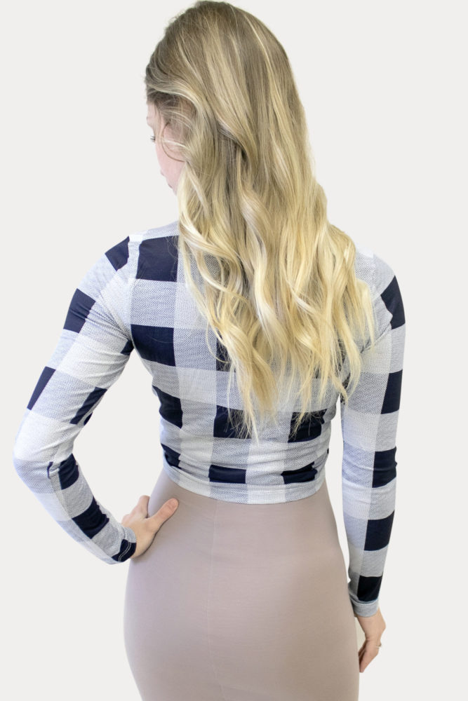 plaid pregnancy crop top