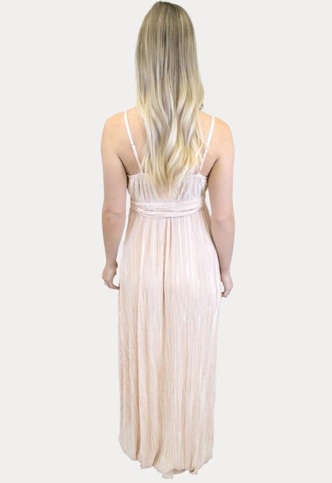pleated maternity maxi dress