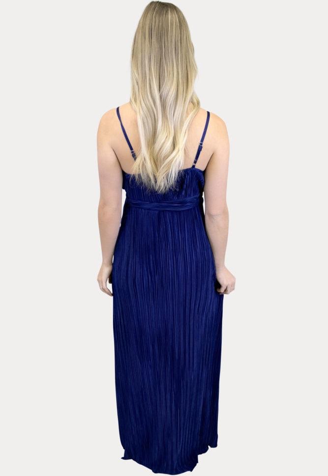 navy maternity maxi dress