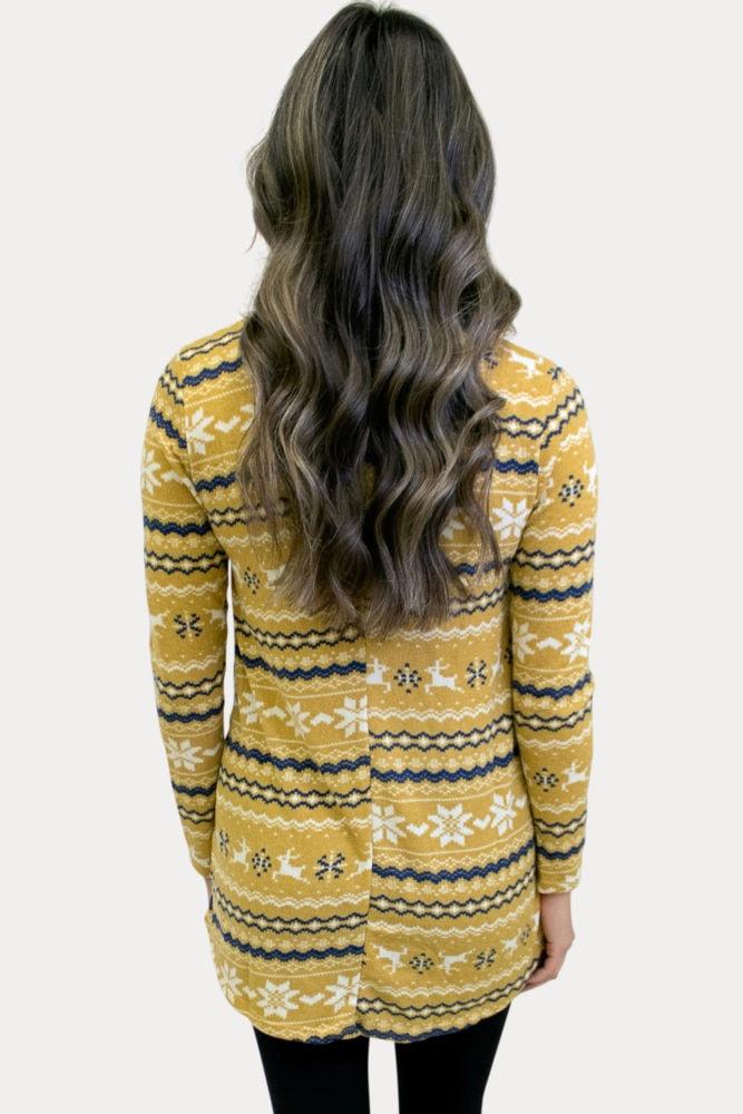winter print maternity tunic