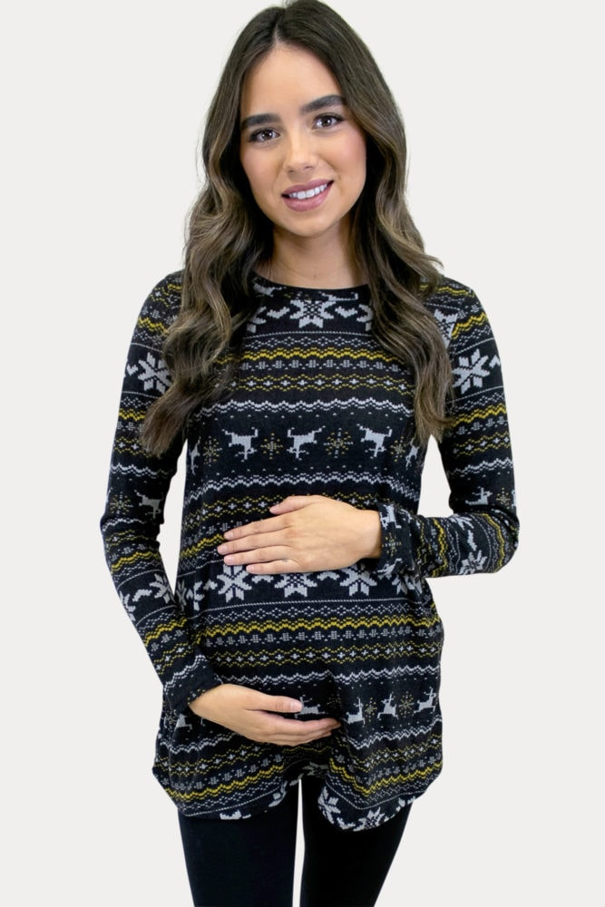 winter maternity top