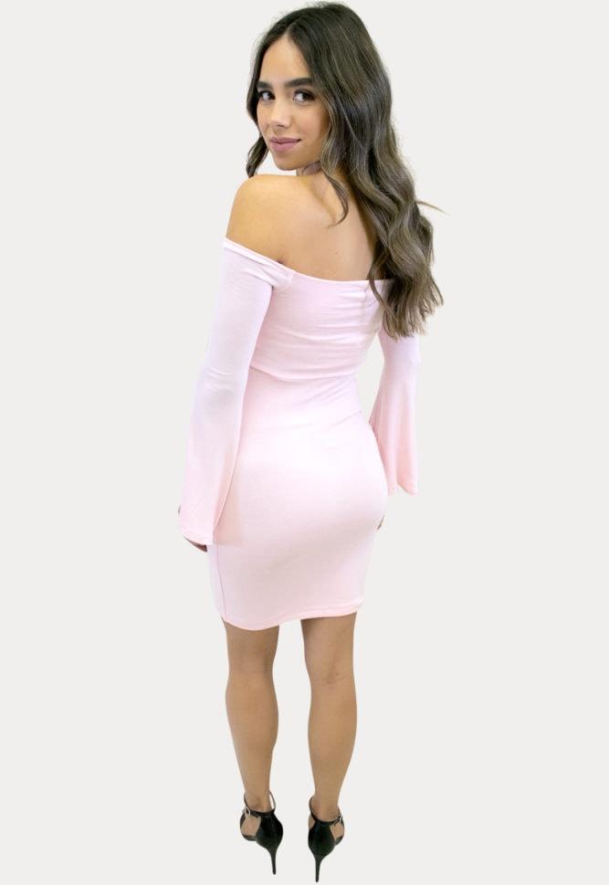 bell sleeve pregnancy dress