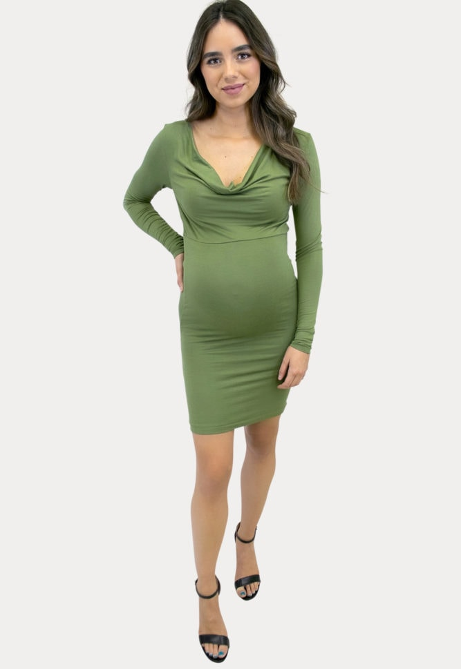 cowl neck pregnancy dress