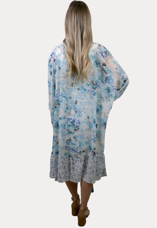 lightweight floral pregnancy kimono