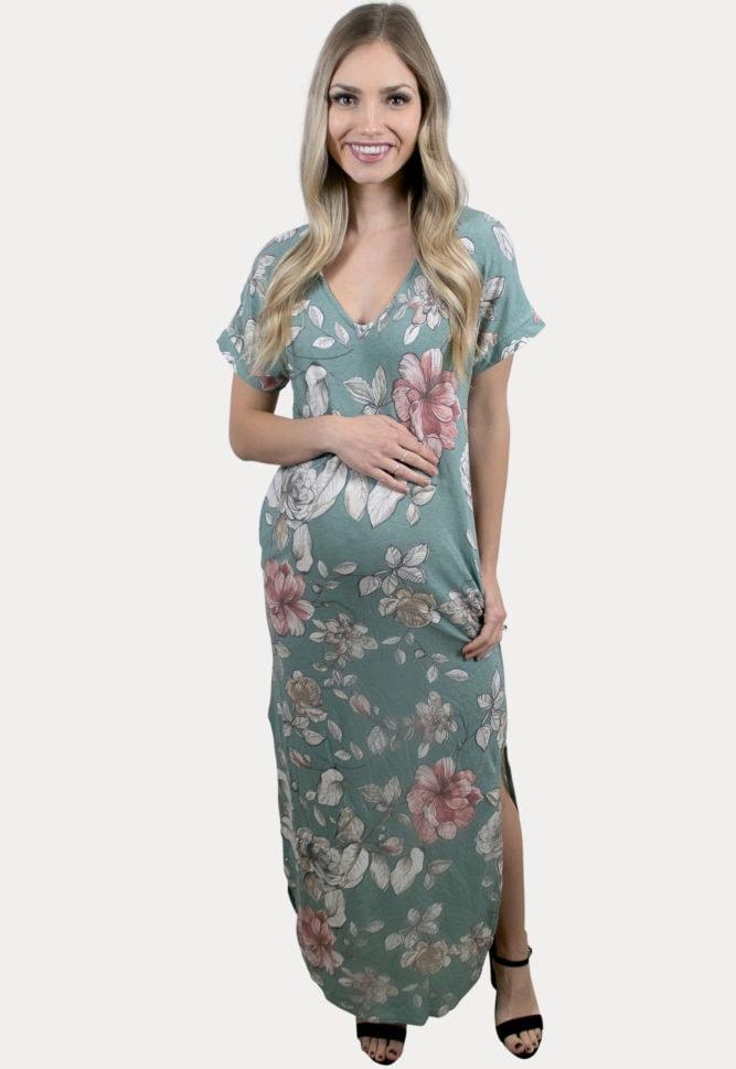 floral pregnancy maxi