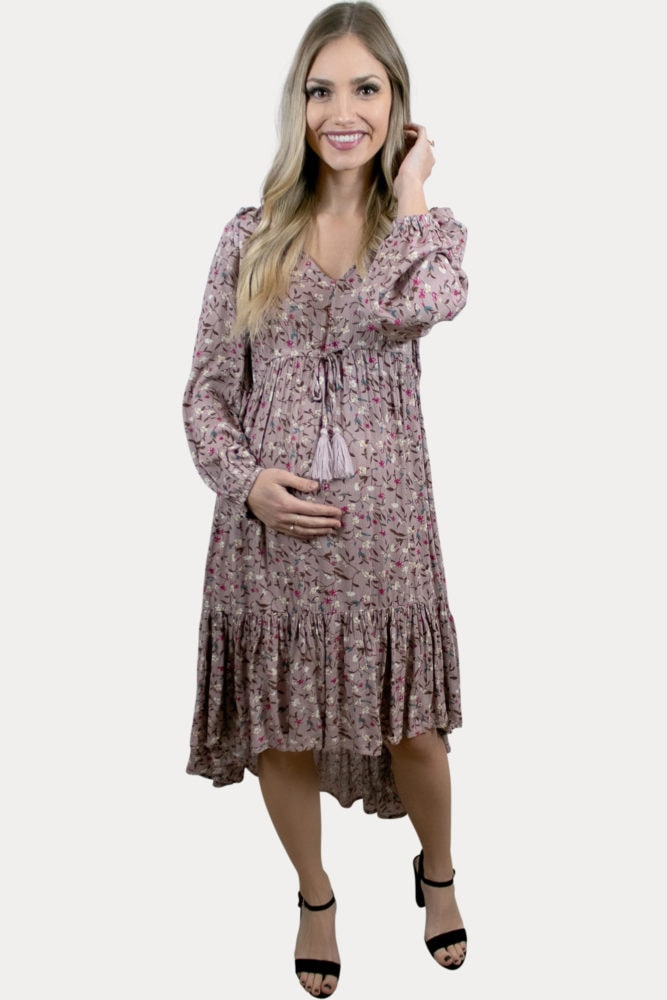 high low floral pregnancy dress