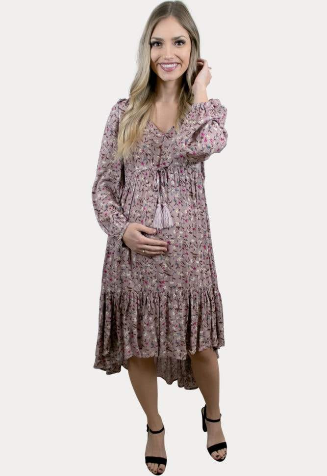 high low floral pregnancy dress